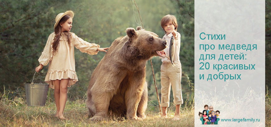 Стихи про медведя для детей