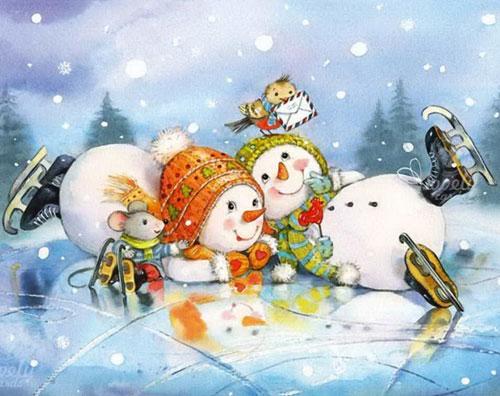 Загадки про снеговика для детей 5-7 лет