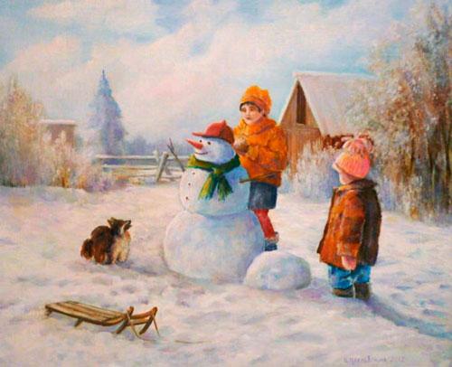 Стих про снеговика для детей 4-5 лет