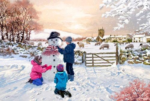 Стихи про снеговика для детей 5-7 лет