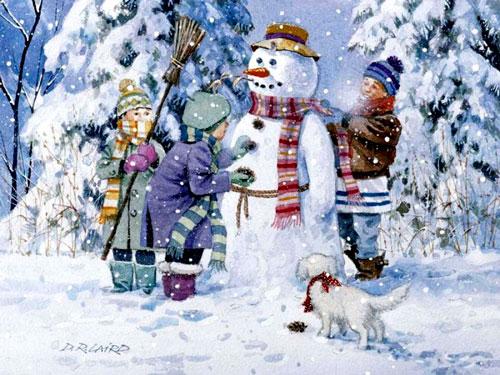 Стих про снеговика для детей 5-7 лет