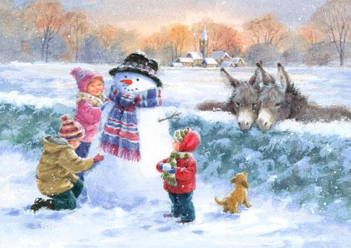 Стих про снеговика