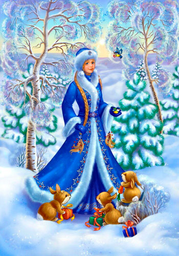 Стихи про Снегурочку для детей 5-7 лет