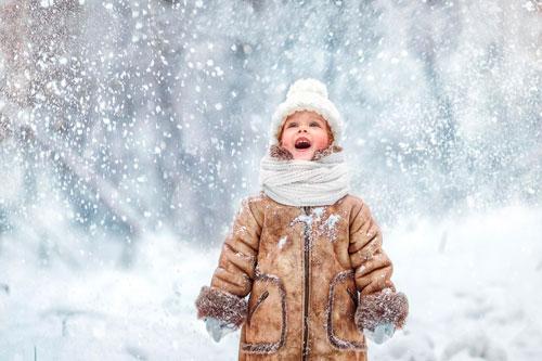 Красивые стихи про снег для детей 5-7 лет