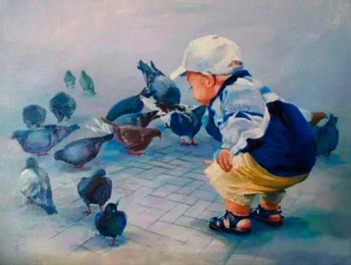 Загадка про голубя для детей 5-7 лет