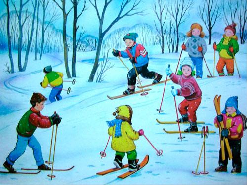 короткие загадки про лыжи