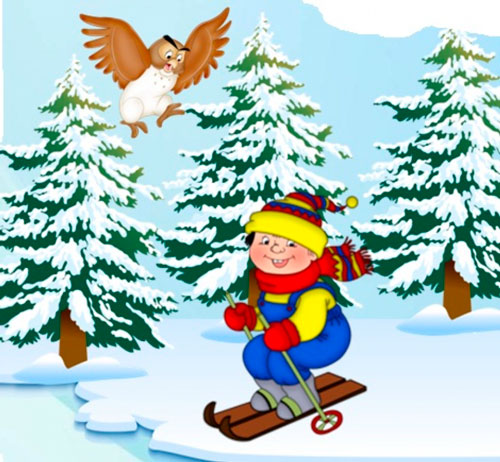 короткие загадки про лыжи для детей с ответами