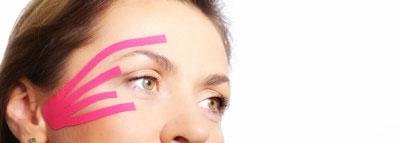 Тейпирование от морщин вокруг глаз