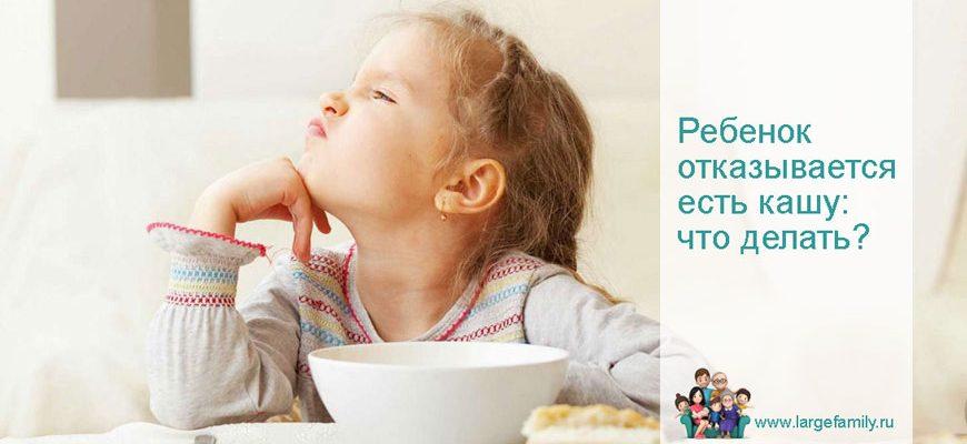 Ребенок в 3 года отказывается есть кашу: что делать?