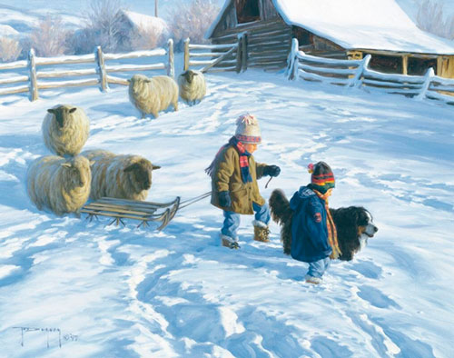 Красивые и короткие стихи про декабрь для детей