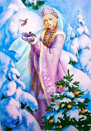 Стихи про Снегурочку для детей 4-5 лет