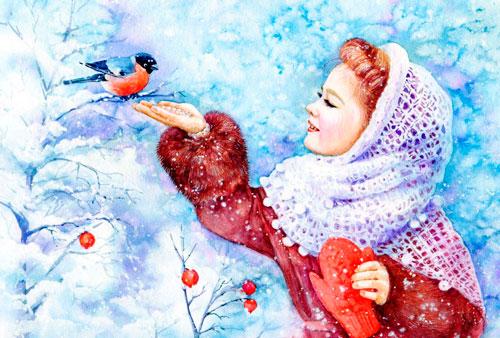 Красивые стихи про снегирей для детей 5-7 лет