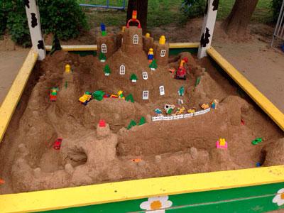 Летние развивающие игры для детей с песком 3