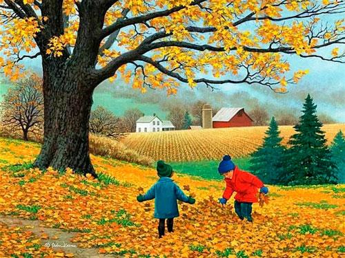 Стихи про месяца года для детей дошкольного возраста: октябрь