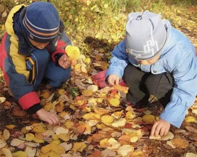 занятия детей 4 лет осень
