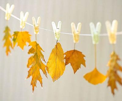 изготовление гирлянд в качестве занятий осенью
