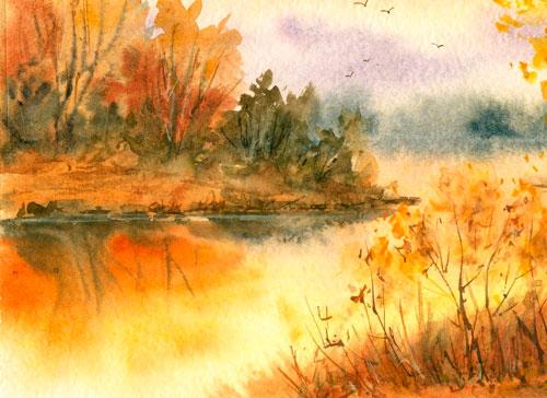 Красивые стихи Афанасия Фета про осень