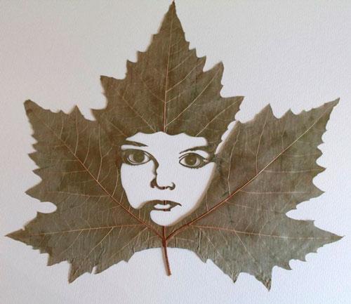 Красивые картины из осенних листьев: картина