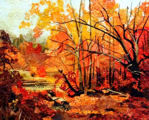 Красивые картины из осенних листьев: природа