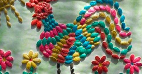 Идеи поделок своими руками на тему осень из семечек: петушёк