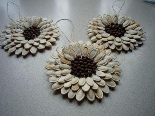 Идеи поделок своими руками на тему осень из семечек: цветы