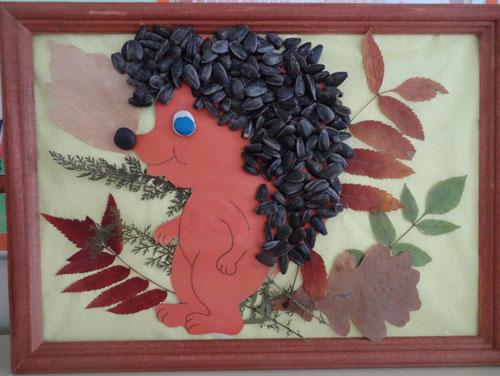Идеи поделок своими руками на тему осень из семечек: ёжик