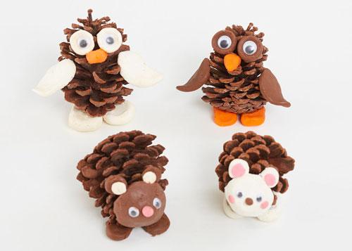 Идеи поделок своими руками тема осень из шишек: сова