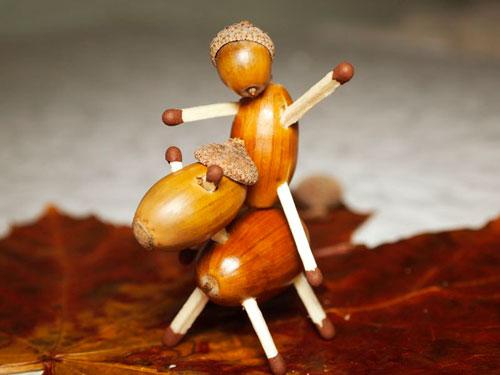 Идеи поделок своими руками на тему осень из желудей: человечек