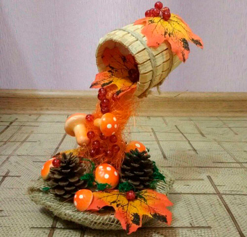 Детские поделки своими руками тема осень: шишки