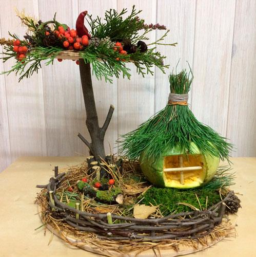 Детские поделки своими руками тема осень: дом и дерево