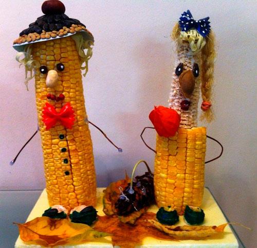 Детские поделки своими руками тема осень: кукуруза