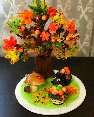 Детские поделки своими руками тема осень: дерево