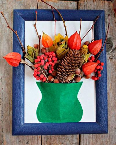 Детские поделки своими руками тема осень: ваза