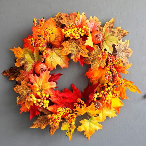 Детские поделки своими руками тема осень: венок из листьев