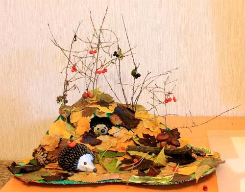 Детские поделки своими руками тема осень: ёжики