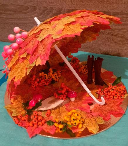 Детские поделки своими руками тема осень: зонт