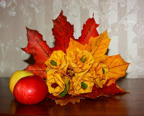 Детские поделки своими руками тема осень: розы