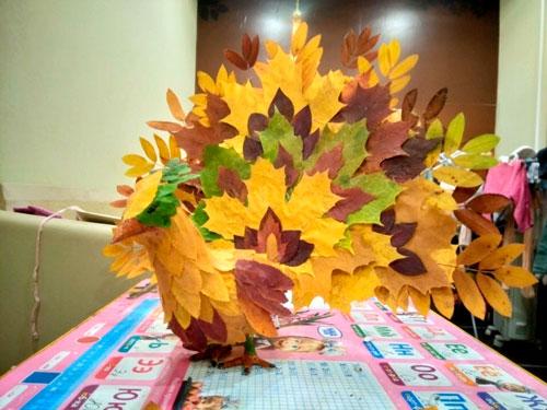 Детские поделки своими руками тема осень: листья