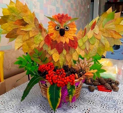 Детские поделки своими руками тема осень: сова