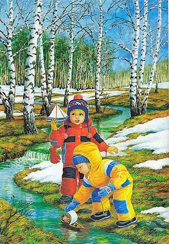 Стихи про месяца года для детей 4-5 лет
